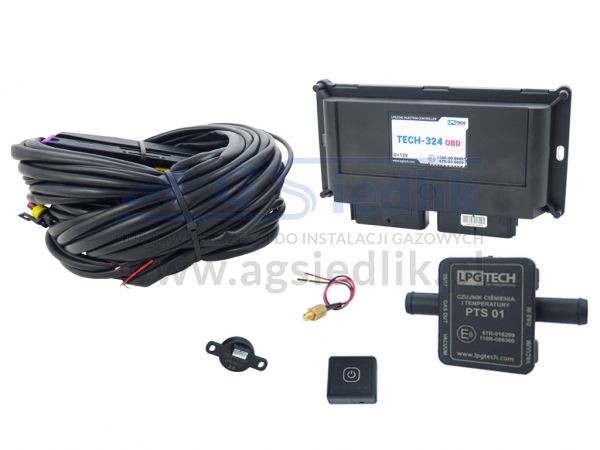 LPGTECH zestaw elektroniki TECH-324 OBD + TECHlevel