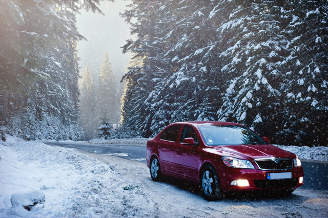 Zimowa awaria samochodu wyposażonego w instalacje gazową