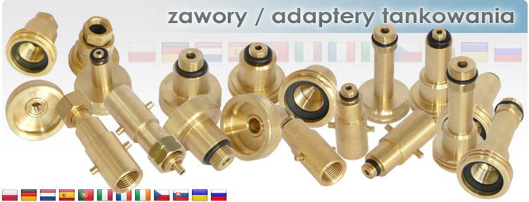 Zawory / adaptery tankowania